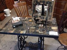 Table and picture frame using letterpress letters: