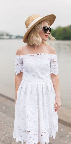 9d4a2f9a7 White Lace Off The Shoulder Dress - Poor Little It Girl Types Of Dresses