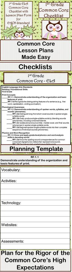 Common Core Whole Group Reading Lesson Plan Template For F