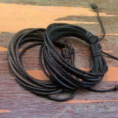 Very Nice Leather Wrap Bracelet Set