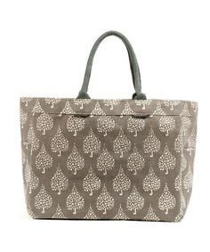 Take a look at this Crete Gray Leaf Caryall Tote by rockflowerpaper on   zulily today 664f618766