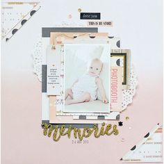 Sharing this beautiful LO created by our DT member Amélie Cousin using our October kit and add-ons @cratepaper #openbook #maggieholmes
