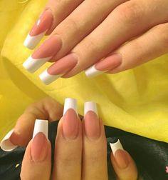 White frenchmanicure, reverse technique