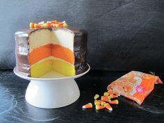 Candy corn cake !