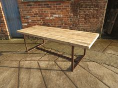 Reclaimed Industrial Chic 8-10 Seater Solid Wood & Copper Frame Dining Table 423