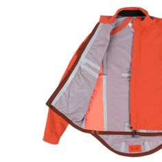 Paul Smith 531 Orange Weatherproof Cycling Jacket with Temperature Control Model Front