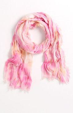 Kirra Tie Dye Scarf in oranges and pinks