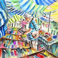 """""""Book Stall on Turre Market"""" Spain, by ©Miki de Goodaboom"""
