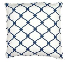 COCOCOZY Fence Linen Pillow in Navy! http://shop.cococozy.com