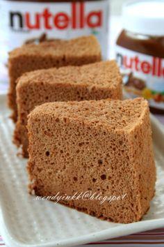 Nutella Chiffon Cake, reduce milk to 80.