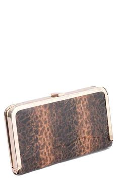 Fur Print Clutch Bag with Metal Fastening Animal Print Clutches, Women's Accessories, United Kingdom, Purses And Bags, Auction, Buy And Sell, Fur, Clutch Bags, Wallet