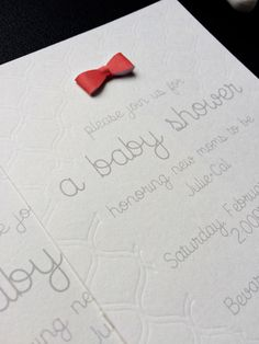 Debossed Baby Shower Invitation | Brittany Sazonoff (BSaz Creates) for Silhouette America |Curio Fine Embossing Tip