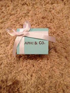 Tiffany Inspired APhi & Co. Sorority Pin Box, Alpha Phi Sorority, Delta Phi Epsilon, Phi Sigma Sigma, Alpha Omicron Pi, Pi Beta Phi, Alpha Sigma Alpha, Sorority Life, Alpha Phi Crafts