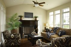 Family Room of the St Jude Dream Home 2010. Built by Fischer & Frichtel Homes in St. Louis, MO.