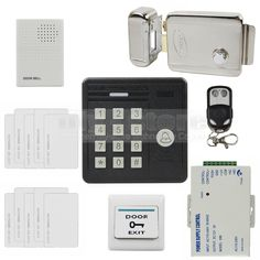 108.78$  Know more - http://aihsp.worlditems.win/all/product.php?id=1504357685 - DIYSECUR Waterproof 125KHz Rfid ID Card Reader Password Keypad Door Bell Electronic Lock Door Access Control Security Kit KS159