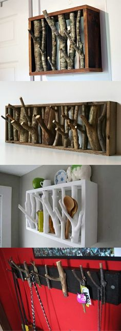 Colgador hecho con ramas Giraffes see in color and their senses of hearing and smell are also sharp.The animal can close its muscular nostrils to protect against sandstorms and ants. Wood Projects, Woodworking Projects, Wood Crafts, Diy And Crafts, Decoration Originale, Ideias Diy, Wood Art, Diy Furniture, Diy Home Decor