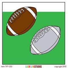 2 free clip art footballs to use in your classroom, your TpT products, or personal creations. Files have transparent backgrounds so you can layer and add text if you like.If you like this package and you're looking for footballs to match your school colors, you can find the full set of colorful balls  here.Need a sports related background to go with your clip art?