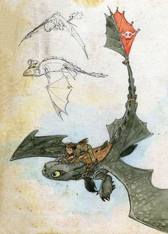 "skunkandburningtires: "" How to Train Your Dragon 2 writer/director Dean DeBlois' sketches of Hiccup and Toothless. Via: The Art of How to Train Your Dragon 2 "" Dragon 2, Toothless Dragon, Hiccup And Toothless, Dragon Rider, How To Draw Toothless, Dreamworks Animation, Dreamworks Dragons, How To Train Dragon, How To Train Your"