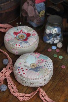 Heart & soul pincushions