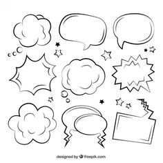Sketchy comic speech bubbles Sketchy comic speech bubbles The post Sketchy comic speech bubbles & Flip Chart appeared first on Free . Doodle Drawings, Doodle Art, Letras Comic, Kalender Design, Bujo Doodles, Sketch Notes, Bullet Journal Inspiration, Hand Lettering, Coloring Pages