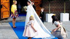 trouwfotos van prins Jaime en Victoria