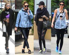 O look academia de 13 celebridades que estão sempre out-and-about a bordo de leggings, tops e muito fashionismo envolvido. De Khloé a Grazi, boas ideias de..