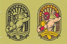 LUCHADOR CAMPEONES by arace on @creativemarket