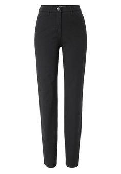 """Ein Klassiker in der Damenhosen-Kollektion von BRAX. Die sportlich-elegante Five-Pocket-Hose ist aus einem hochwertigem und softem Baumwollstretch gefertigt. Modische Akzente setzt der ansprechende Zierstepp auf den Gesäßtaschen. In den Farben Schwarz und Marine ist diese Damenhose mit """"Perma"""" ausgestattet, wodurch ein Ausbleichen nach der Wäsche verhindert wird.  Form: Verschluss: hochwertiger..."""