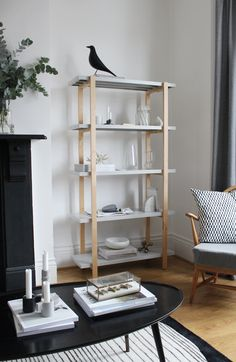 IKEA x HAY YPPERLIG Shelving Unit. This corner of my living room used to feature a dark, heavy looking bookcase. It all feels so much lighter and brighter with the open design of this piece.