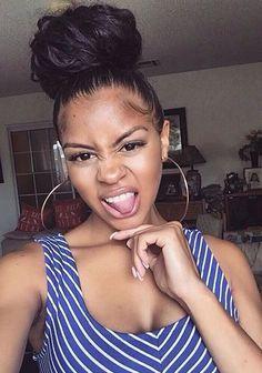 Image result for black women big top bun hair