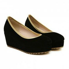 $14.45 Casual Women's Platform Shoes With Solid Color and Bordered Design