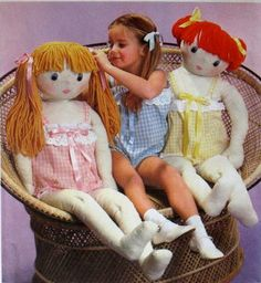 Simplicity 8967 Child Size Rag Doll Toy and by paneenjerez . My mom made this for me! Doll Patterns Free, Doll Sewing Patterns, Sewing Dolls, Simplicity Sewing Patterns, Doll Clothes Patterns, Vintage Sewing Patterns, Craft Patterns, Doll Toys, Baby Dolls