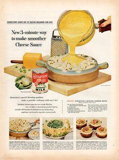 1956 Carnation Evaporated Milk Original Food and Drink Print Ad