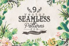 FREE! 9 Vector seamless patterns by Graphic Box on Creative Market