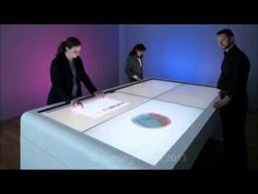 Large Interactive Collaboration Table - YouTube