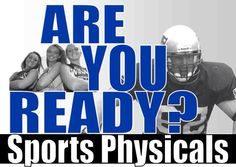Now offering back to school / student sports physicals