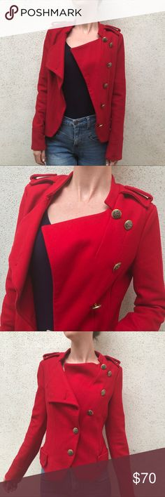 Marc by Marc Jacobs Gorgeous Red Pea Coat Size M Marc by Marc Jacobs Gorgeous Red Pea Coat Size M. Gold buttons. Perfect Condition. Marc by Marc Jacobs Jackets & Coats Pea Coats
