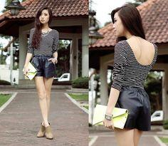 Tropical Leather (by Kryz Uy) http://lookbook.nu/look/4425155-Tropical-Leather