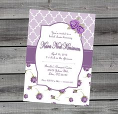 A personal favorite from my Etsy shop https://www.etsy.com/listing/454396422/purple-lavender-shabby-chic-bridal