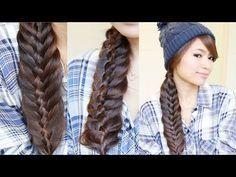 Dutch Woven Fishtail Braid   Braided Hairstyle Ideas   Braidsandstyles12 - YouTube