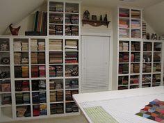Quilt room fabric storage