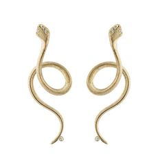 Fascinating Snakes. Earrings handcrafted in 18k gold | Ole Lynggaard Copenhagen, Charlotte Lynggaard