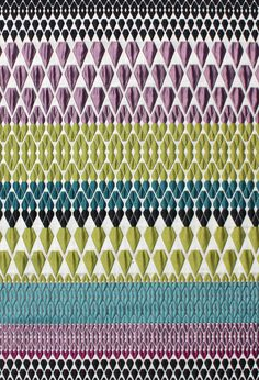 Caroline Fabric. Kaleidoscope Collection. Cotton, Polyester and Acrylic. Margo Selby. Textile Design