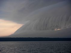 Storm rolls in over Manitoulin Island, Ontario, Canada.