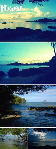 Moreré tem uma vegetação luxuriante, é isolada, tem piscinas naturais protegidas por barreiras de corais, águas transparentes, praias completamente desertas e um ar de paraíso que é fascinante.Vale muito fazer passeios pela região, e não deixe de ir a Ponta dos Castelhanos, uma praia deserta que tem a melhor caipirinha de limão siciliano da Bahia! Wonderful Places, Beautiful Places, Brazil, Travel Destinations, Places To Go, Around The Worlds, Mountains, Grande, Destinations