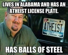 I'm not an atheist, but this still applies to my logic re the Christian religion. Atheist Quotes, Atheist Humor, Qoutes, Losing My Religion, Anti Religion, Religious People, Question Everything, Photoshop, Thing 1
