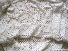 Large by Passesimple Linen Bedding, Bed Linen, Crochet Bedspread, Cotton Crochet, Scalloped Edge, Bed Covers, Bed Spreads, French Vintage, White Cotton