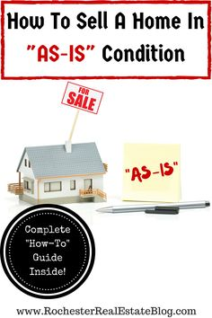 Selling a home in as-is condition can be tricky, frustrating, and confusing. Check out these tips on how to sell a home in as-is condition! http://www.rochesterrealestateblog.com/how-to-sell-a-home-in-as-is-condition/ via @KyleHiscockRE #realestate #homeselling