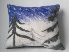 Check out this item in my Etsy shop https://www.etsy.com/listing/576107215/felted-pillow-home-decoration-white-blue