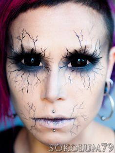 Angel of Death (Tutorial) #Halloween #Halloween make-up ~ seriously makes me think of the way the demons look as Sam is exorcising them to their final deaths. So cool! Great Halloween make up idea!	~J.